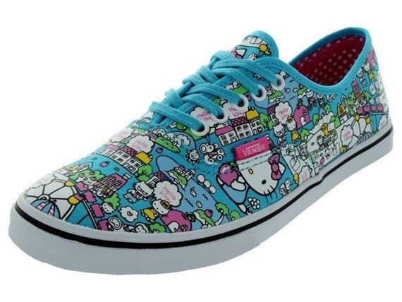 trampki damskie VANS - AUTHENTIC LO PRO HELLO KITTY BLUE TRUE WHITE