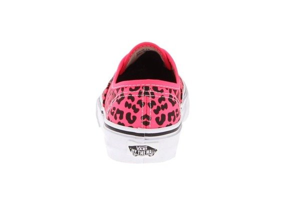 trampki damskie VANS  - AUTHENTIC NEON LEOPARD PINK/BLACK