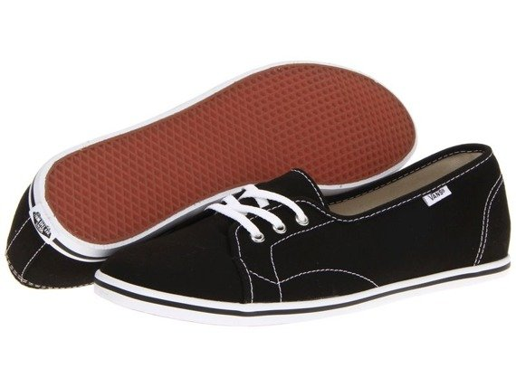trampki damskie VANS - LEAH BLACK/TRUE WHITE