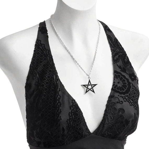 wisior BLACK STAR