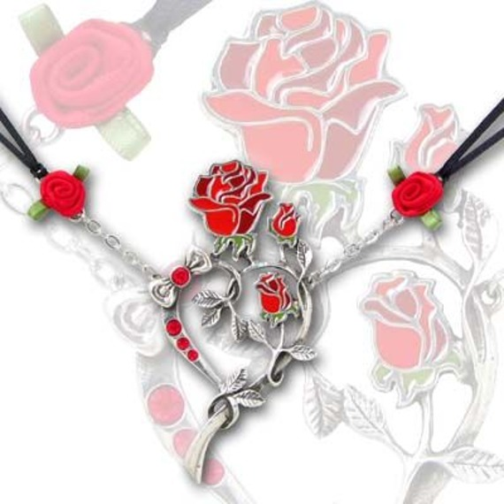 wisiorek ROSE HEART UL17